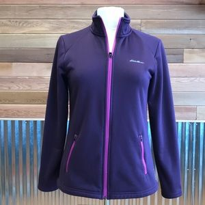 Eddie Bauer womens S purple/plum zip up hoodie